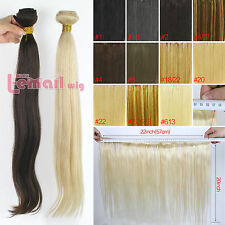 Straight 100% Virgin Brazilian 100g Remy Human Hair Weft Extension 1 Bundle