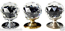 Crystal Glass Knobs Handles, Facet Ball or Diamond Crystal Glass Knobs