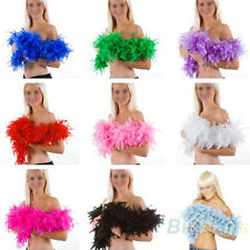 Wedding Party Flower 2M Feather Boa Fluffy Craft Costume Dressup Home Decor BC4U