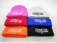 Hip-Hop chic SSUR COMME DES FUCKDOWN Knitting Wool Beanie Hat