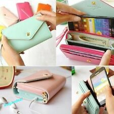 New women Wallet Card Holder PU Leather Flip Case Cover For iPhone 5/5S Galaxy