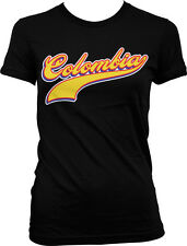 Colombia Colombian Olympics World Cup Soccer Sporty Futbol Juniors Girls T-shirt