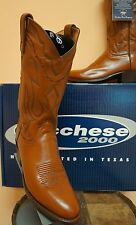 LUCCHESE MENS ANTIQUE BROWN LONESTAR CALF LEATHER BOOTS- BLOWOUT SALE! T3097.R4