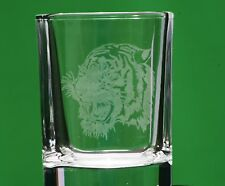 Tiger Face Roar Crystal Shot Glass Cup Ideal Gift Great Indian Animal Boxed