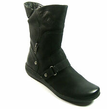 CAPRICE Black Ladies  Leather Ankle Boots