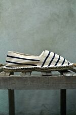 Espadrilles in Cream and Navy Stripe - Made in France