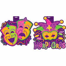 Mardi Gras Cut Outs Comedy Tragedy or Jester Party Decoration Decor