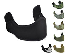 Airsoft Tactical Helmet Armour Protective Face Mask w/ Loop Hook Fastener A