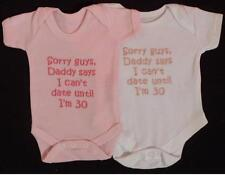 Daddy Says I Cant Date Until Im 30 Baby Vest Grow Girl Clothes Cute Funny Gift
