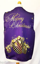 CLASSY BAUBLE PURPLE DESIGN WACKY WAISTCOAT CHRISTMAS PATTERN FUN & FANCY