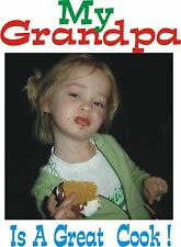 """Christmas gift ideas Persolized custom T-Shirts   """"Grand Pa Cooks"""""""