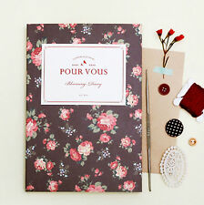 New Pour Vous Blooming Diary Undated Planner Organizers_PVC Cover+Deco Stickers