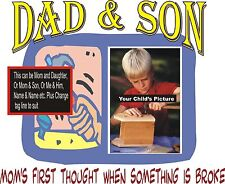 """Christmas Gift Ideas Persolized Custom T-Shirts   """"Dad & Son"""""""