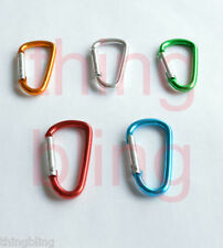 D Type Carabiner - Choose Pack Size & Colour