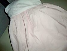 """SIMPLY SHABBY CHIC OLD FASHIONED CRISP COTTON FULL OR  TWIN BEDSKIRT PINK 14"""""""