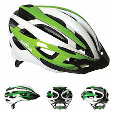 NEW ARINA CORSE PRO CYCLE HELMET - ADULT WHITE / GREEN - ROAD MTB CYCLING