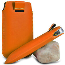 ORANGE PULL TAB LEATHER POUCH COVER CASE SLEEVE PU HOLSTER FOR VARIOUS PHONE