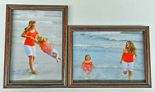 3.5x5 4x5 4x6 5x7 8x10 Wood Photo Picture Frame Two Double  Frames Hinged New