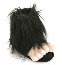Mens Black Bigfoot Funny Novelty Slippers Size 6 to 12 UK - XMAS CHRISTMAS GIFT