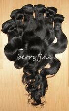 2/3/4/5pc Brazilian Body Wave/Wavy Hair Wefts Lace/Silk Closure Extension Lot