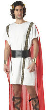 Men Costume Greek Roman Emperor White Toga Party Outfit
