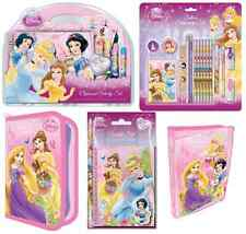 DISNEY PRINCESS PEN COLOURING PENCIL PAINT STATIONERY SETS & ART CASES GIFTS