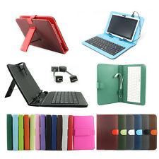 """USB Keyboard Leather Case Cover For Universal Android Tablet 7"""" 8"""" 9"""" 9.7"""" 10.1"""""""
