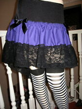 Purple,Black,red,Green Fishtail  Burlesque Lace Skirt,Rock,Goth,Lolita,All sizes