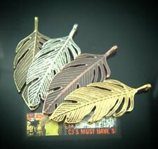 5 LARGE TIBETAN LEAF PENDANT CHARMS ANTIQUE SILVER GOLD BRONZE & RED COPPER