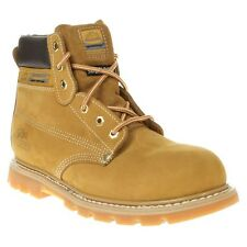 New Mens Groundwork Tan Worker Nubuck Boots Lace Up
