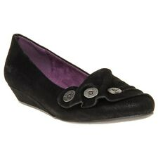 New Womens Blowfish Black Georgie Synthetic Shoes Flats Slip On