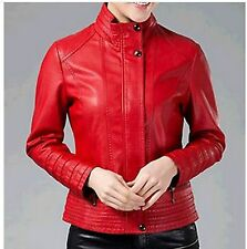 New Fashion plus size L-5XL leather jackets for women leather jacket