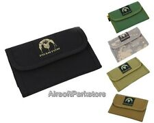 Phantom Tactical Military Style Army Trifold Wallet with Hook 5 Colors BK/TAN