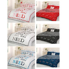 Housse Couette Réversible Taie Oreiller All You Need Is Love