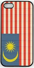 Rikki Knight Malaysia Flag on Distressed Wood Case for iPhone 4, 5 & 6