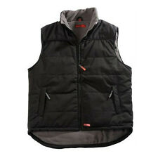 Mens Quilted Padded Work Wear Combat Gilet Gillet Coat Jacket Bodywarmer Fleece