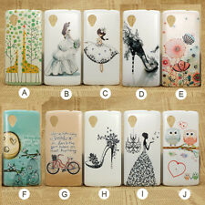 Transparent Skin colored drawing Print  phone case LG Google Nexus 5