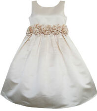 Girls Dress champagne Shinning Wedding Pageant Bridesmaid Kids Clothes SZ 4-12