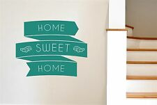 Home Sweet Home In Banners Wall Stickers Decals Art Quotes Decor Vinyl