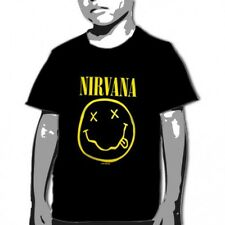 OFFICIAL Nirvana - Smile Black YOUTH T-shirt NEW LICENSED Kids Merch All SIZES