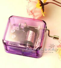 30 X DIFFERENT SONGS PURPLE HAND CRANK MUSIC BOX ( You are my sunshine)