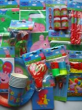 PEPPA PIG PARTY RANGE {Gemma}PPG{fixed £1 p&p}