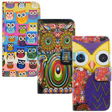 New Cartoon Owl Bird Card Slot Leather Wallet Case Cover for Apple iPhone 5C