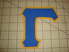 5 INCH GREEK SORORITY/FRATERNITY (NO SEW) IRON ON LETTERS - BLUE/GOLD