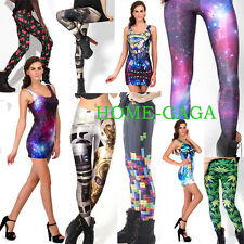 Women Punk Gothic S-M,L-XL YOGA GYM Leisure Dancer Stylish Galaxy Leggings Pants