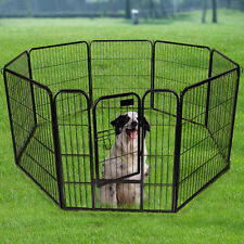 "New 24"" 32"" 40"" 8 Panel Heavy Duty Pet Playpen Dog Exercise Pen Cat Fence"