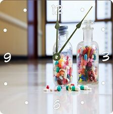 Rikki Knight Medical Capsules And Tablets In Bottle Wall Clock