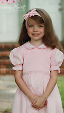 New Beautiful Easter pink princess hand smocked dress 3m to 6  yrs. 17599
