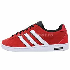Adidas Derby Neo Label 2014 Red Suede White Casual Shoes Lifestyle Sneakers