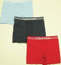 CALVIN KLEIN CONCEPT Men's Microfiber Stretch Boxer Brief - Lt Blue, Navy or Red
